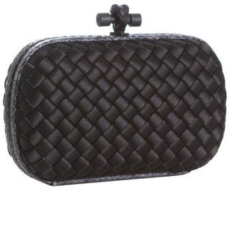 Bottega Veneta black intrecciato sateen 'Ayers Knot' clutch