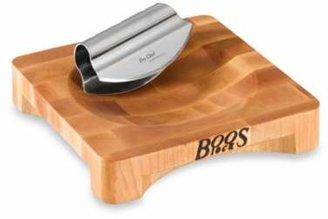 John Boos Mezzaluna Board with Knife