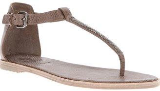 Brunello Cucinelli flat embellished sandal