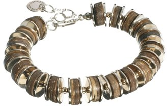 French Connection Coco Shell & Metal Disc Bracelet