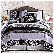 JCPenney Seventeen Zebra Darling Comforter Set