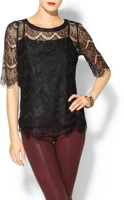 Juicy Couture Rhyme Los Angeles Lace Blouse