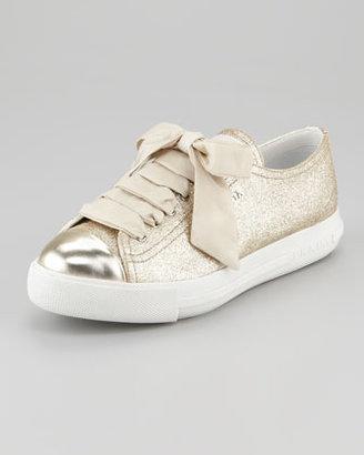 Prada Glitter Platform Sneaker