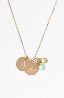 Women's Nashelle Aqua Chalcedony, Lemon Quartz, Initial & Arrow 14K-Gold Fill Disc Necklace $138 thestylecure.com