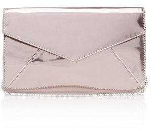 Wallis Pewter Clutch Bag