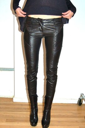 Balmain Pierre Leather Biker Pants