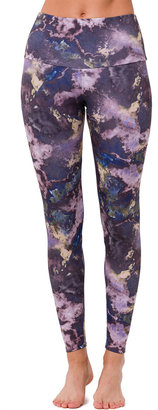 Onzie High-Rise Marble-Print Leggings