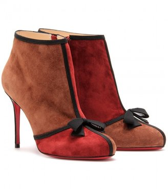 Christian Louboutin ARNOEUD 85 SUEDE ANKLE BOOTS
