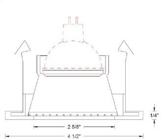 W.A.C. Lighting 3 Inch Premium Low Voltage Shower Trim - D329-S