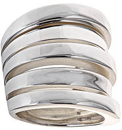 Argentovivo Sterling Silver Multiple Bands Ring