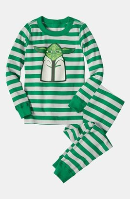 Hanna Andersson Two Piece Fitted Pajamas (Toddler Boys)