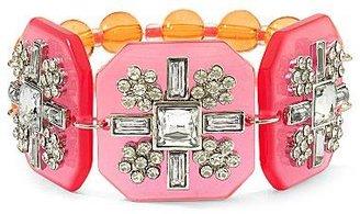 JCPenney Lucite & Crystal Stretch Bracelet