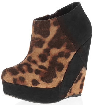 Dorothy Perkins Leopard wedge ankle boots