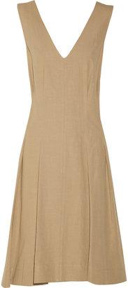 Marni Pleated linen-blend dress