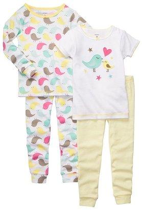 Carter's bird & stripe pajama set - toddler