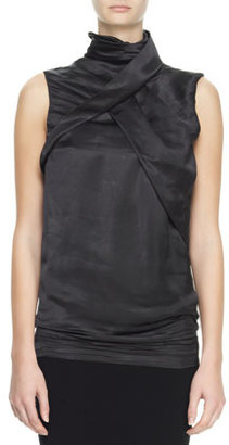 Haider Ackermann Sleeveless High-Neck Fold Top