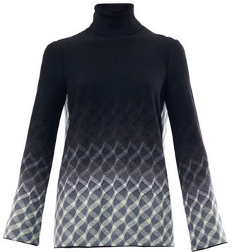 Missoni Geometric weave open back sweater