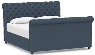 Pottery Barn Chesterfield Tufted Upholstered Bed with Footboard