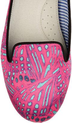 Charles Philip Shanghai Yas printed satin slippers