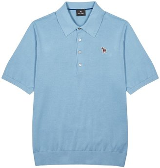 Paul Smith Blue Fine-knit Cotton Polo Shirt