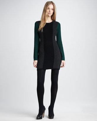 Theory Colorblock Wool Dress