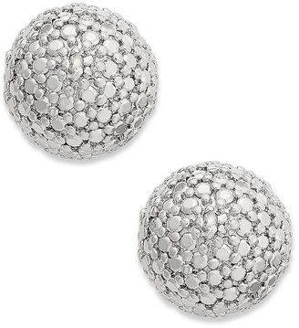 Townsend Victoria Sterling Silver Earrings, Diamond Accent Pave Dome Stud Earrings