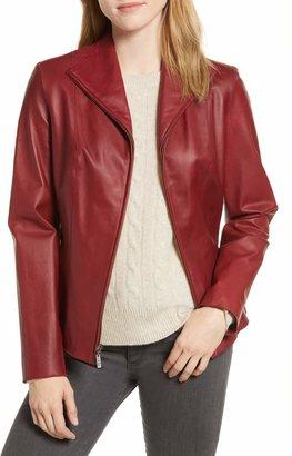 Cole Haan Lambskin Leather Scuba Jacket
