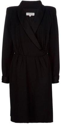 Yves Saint Laurent Vintage Satin lapel dress