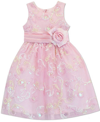 Jayne Copeland Girls' Sequined Soutache Dress
