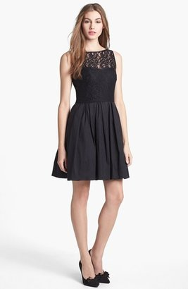 Aidan Mattox Lace Bodice Fit & Flare Dress (Online Only)