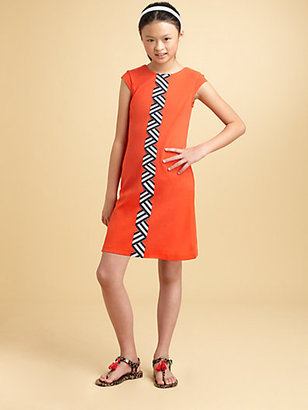 Hartstrings KC Parker by Girl's Ribbon-Trimmed Ponte Dress