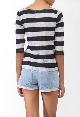 Forever 21 Basic Striped Top