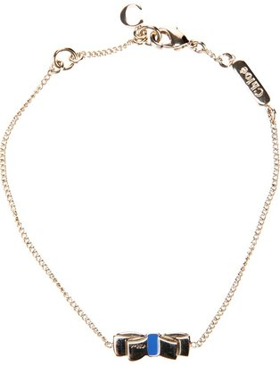 Chloé bow charm bracelet