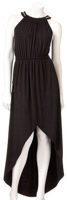 JLO by Jennifer Lopez solid hi-low maxi dress
