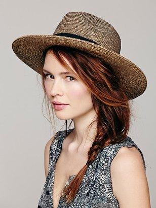 Free People Sun 'N' Sand Paper Braid Wide Brim Hat