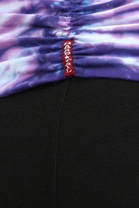 Hard Tail Tie Dye Roll Down Flare in Black/ Purple