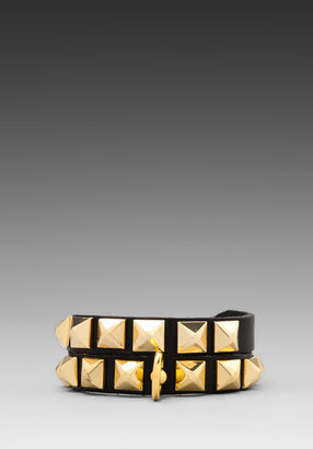 Linea Pelle Grayson Pyramid Double Wrap
