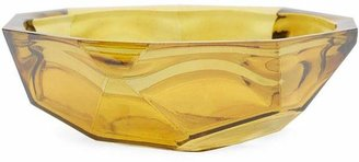 San Miguel Recycled Glass Yellow Origami Bowl