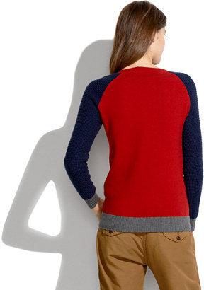 Madewell Wafflestitch Colorblock Sweater