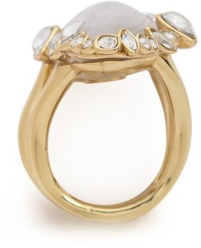 Alexis Bittar Two Tone Cocktail Ring with Crystals