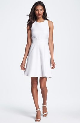 Suzi Chin for Maggy Boutique Jacquard Fit & Flare Dress