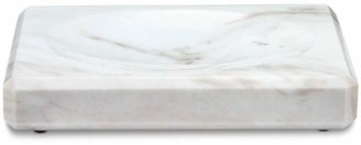 "Water Works ""White Marble"" Soap Dish"
