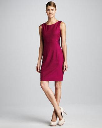 Elie Tahari Estelle Two-Tone Dress