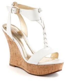 Belle by Sigerson Morrison Bela Leather Platform Cork Wedge Sandals