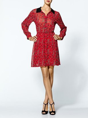Collective Concepts Sophia Red Floral Dress