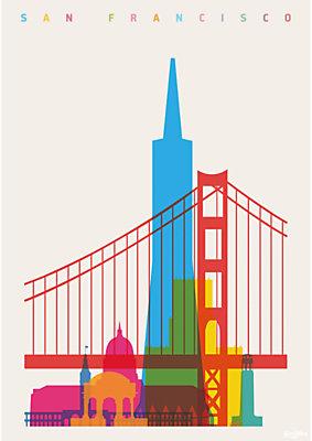 John Lewis House by John Lewis, Yoni Alter - San Francisco Unframed Print, 40 x 30cm