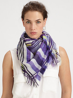 Yigal Azrouel Cut 25 by Mixed Stripes Modal & Cashmere Scarf