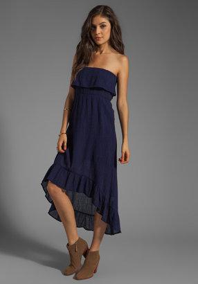 Bobi Gauze Strapless Ruffle Dress
