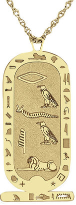 FINE JEWELRY Personalized Hieroglyphic Pendant Necklace $374.98 thestylecure.com