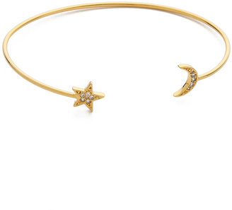 Tai Star & Moon Bangle Bracelet $55 thestylecure.com